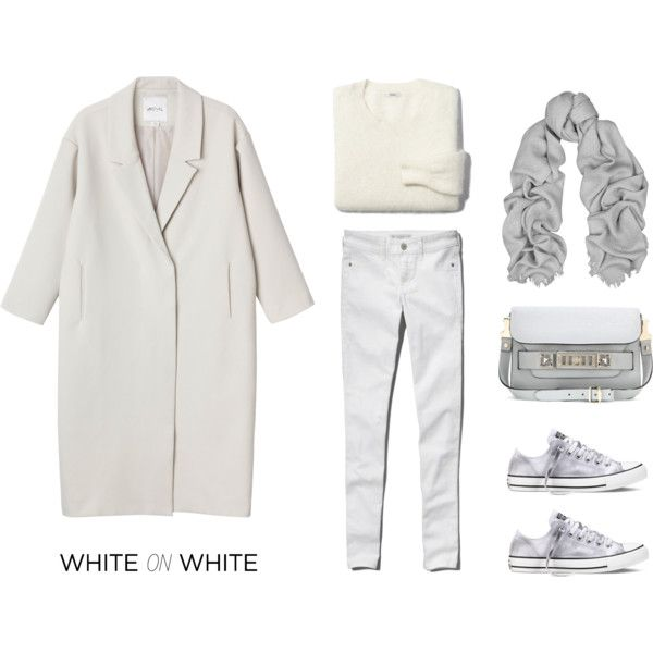MINIMAL + CLASSIC: White on White by fashionlandscape on Polyvore featuring Madewell, Monki, Abercrombie