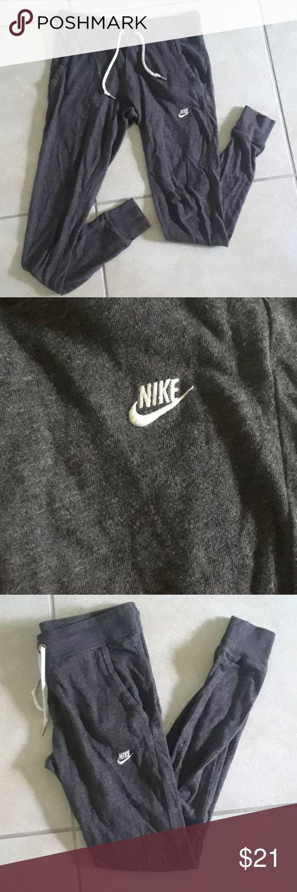 Nike Joggers Like new. Dark grey Nike Joggers. Super comfy material. Size XS. Nike Pants Track Pants & Joggers