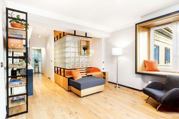 adelaparvu.com despre garsoniera 37 mp cu 4 locuri de dormit, Varsovia, design KlamaStudio, Foto Monika Filipiuk-Obalek (2)