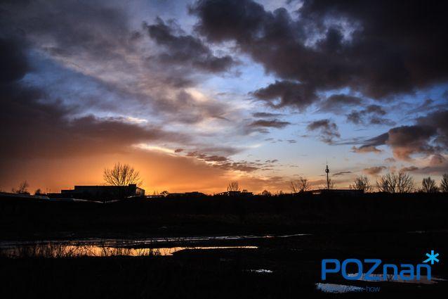 Poznan Poland, zachód słońca na Naramowicach [fot. P. Szewczyk]