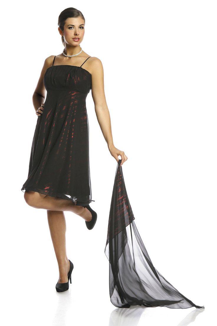Sukienka FSU117 CZARNY CZERWONY Sukienka FSU117 CZARNY CZERWONY | Sukienki | Suknie Wizytowe | Suknie Wieczorowe | Garsonki | Fokus