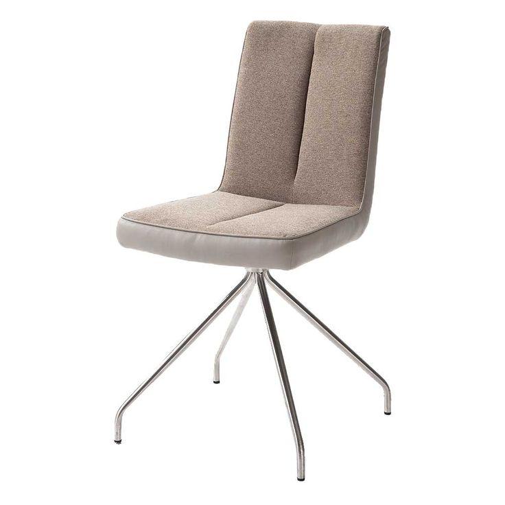 Design Stuhl In Taupe Stoff Edelstahl (2er Set) Jetzt Bestellen Unter:  Https:
