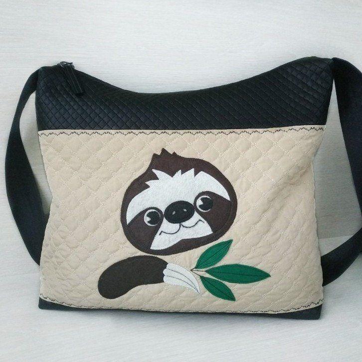 Hip bag women Waist bag Bum bag Small travel bag Cute sloth purse Vegan leather belt bag Sloth gifts Sloth bag Festival fanny pack