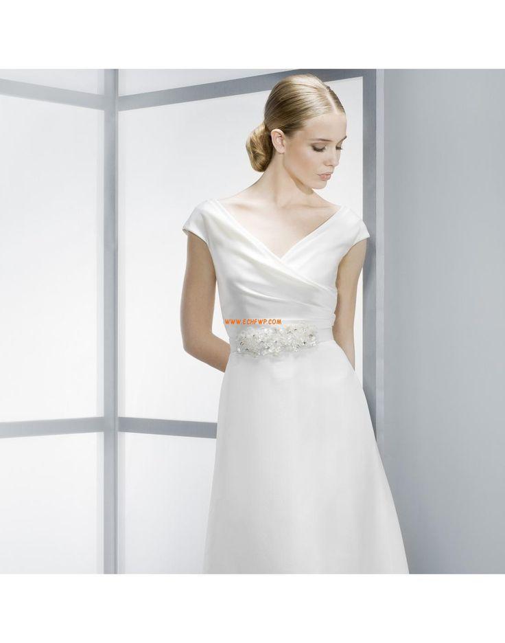 Eglise A-line Fleurs Robes de mariée pas cher