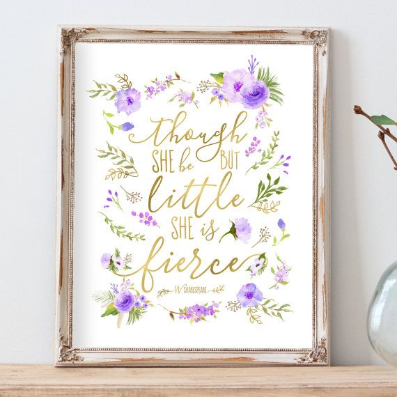 Purple Nursery Decor Violet Nursery Art Lavender by AdorenStudio