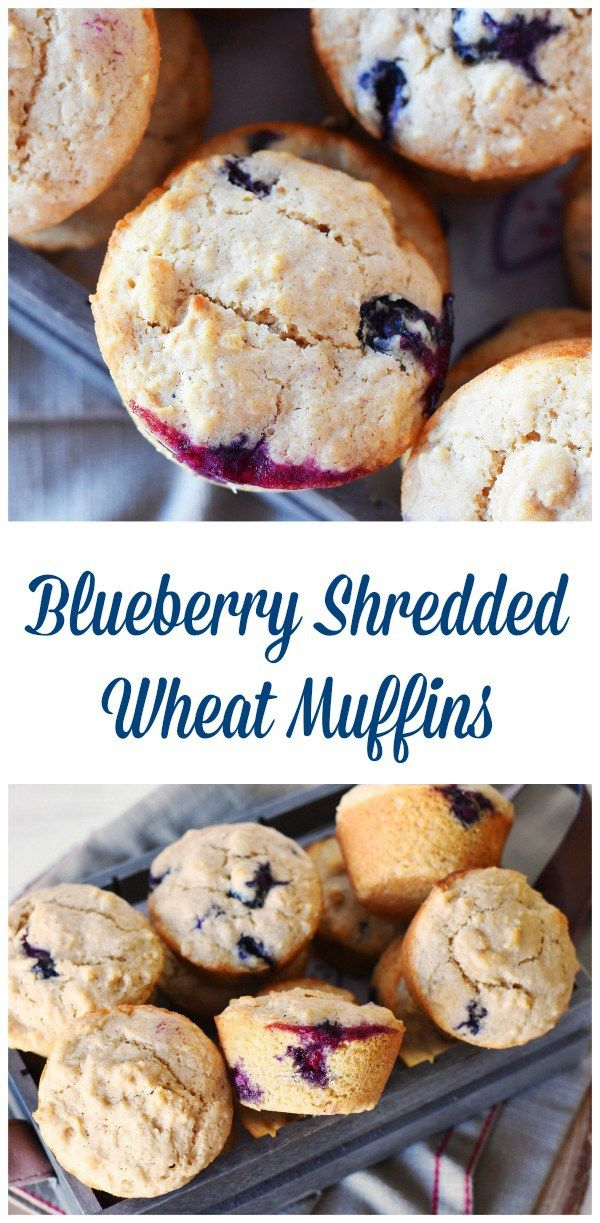 Blueberry Shredded Wheat Muffins are made with Post Shredded Wheat Original Cereal. They taste so good and can be frozen for breakfasts on the go. Recipe makes 12 muffins. AD #CerealAnytime #SpoonfulsofGoodness