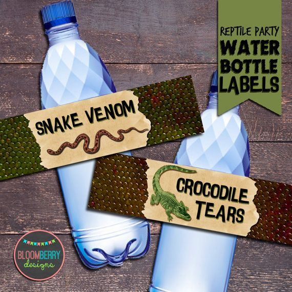Thank you for checking out Bloomberry Designs! This listing is for the Printable Reptile Party Water Bottle Labels. This invitation will be