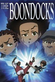 The Boondocks (2005) is about two black kids who are very mature for their age living with their grandfather in a white neighborhood. Lots of politically incorrect humor.