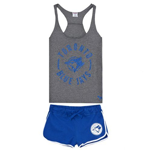 Women's Toronto Blue Jays Pink Victoria's Secret High Low Tank Top and Boxer Shorts Set