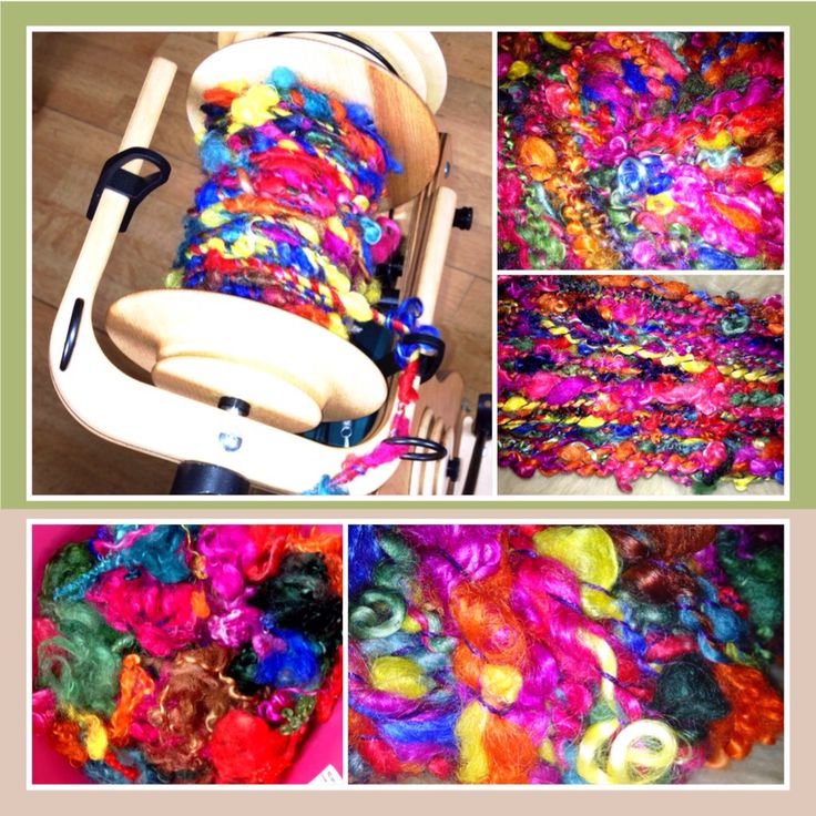 I have now completed my work. handspun colorful curls