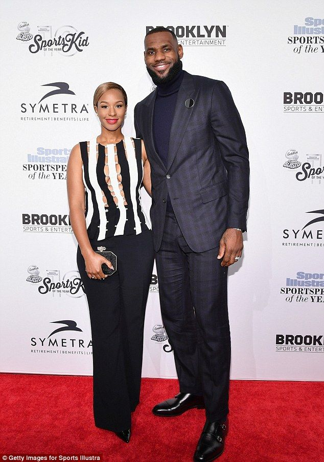 Man of the hour: Basketball legend LeBron James and his wife Savannah Brinson also attended the gala where he was presented with Sportsperson Of The Year