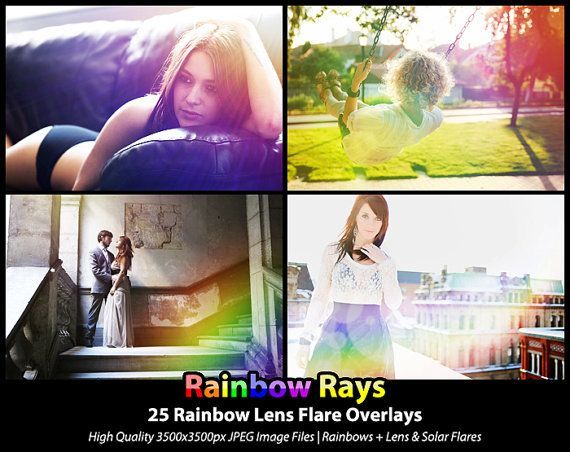 25 Photoshop Actions Overlays  Rainbow Lens by SupremerStudio, $8.00