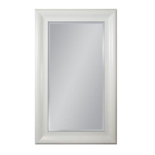 Lustro ścienne W Białej Ramie 90x150 Lustra Pinterest