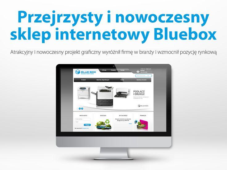 Przejrzysty i nowoczesny sklep internetowy Bluebox.