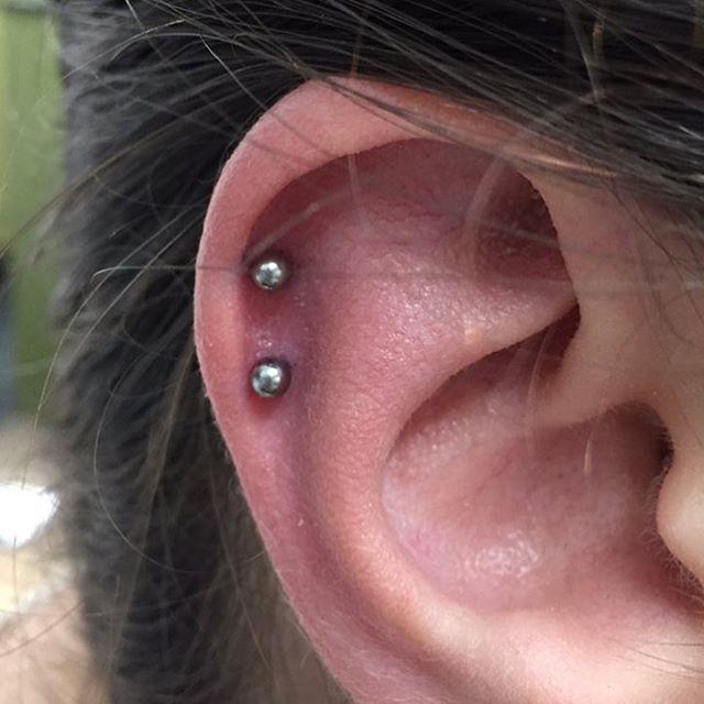 Line Em And Stack Em Up Cartilagepiercing Earpeircing Piercing