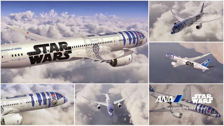Star wars R2-D2 Jet(Boeing 787-9),ANA(All Nippon Airways)