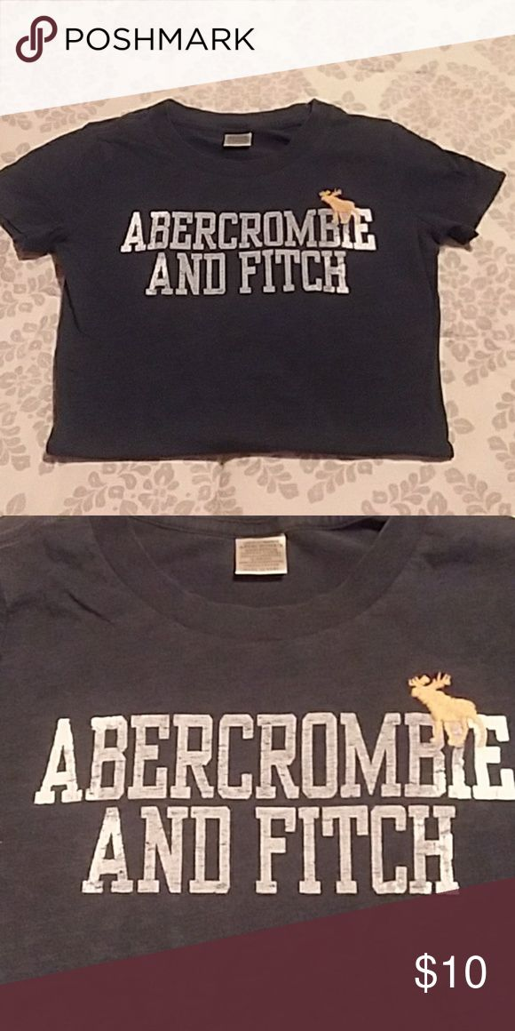 Abercrombie and Fitch T-shirt Navy blue Abercrombie and Fitch T-shirt. Good condition. No rips. Abercrombie & Fitch Tops Tees - Short Sleeve