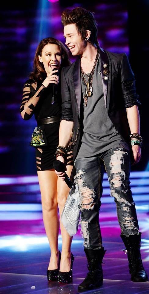 Kylie Minogue And Reece Mastin