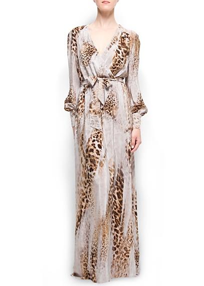 MANGO - Long Silk Dress