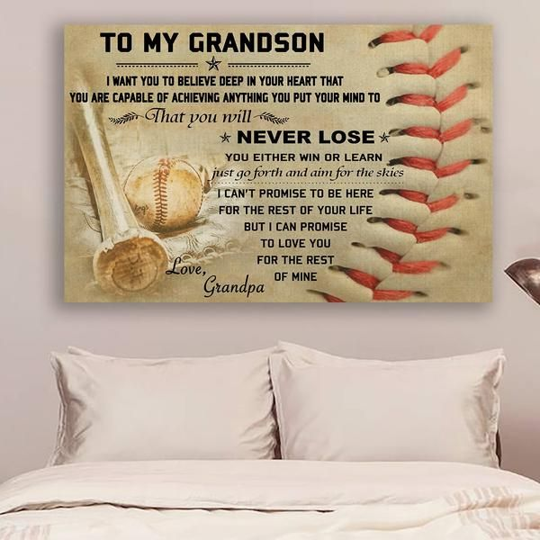 Baseball Dad To My Son I Want You To Believe You/'ll Never Lose  Canvas  Framed