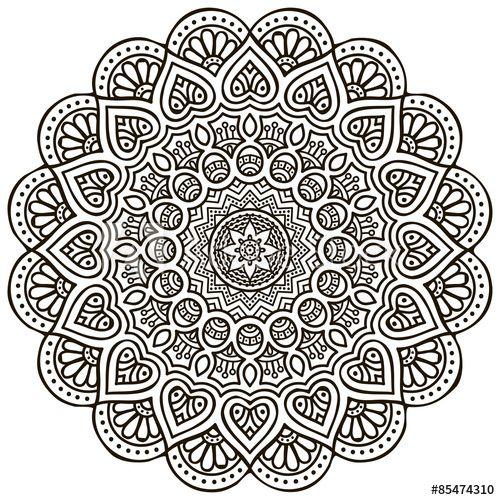 Mandala. Round Ornament Pattern - Buy this stock vector and explore similar vectors at Adobe Stock