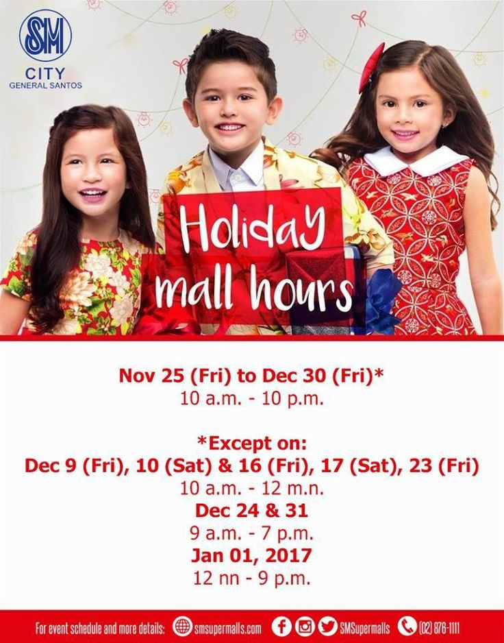 Shop longer this Season at SM City General Santos' Christmas Mall Hours