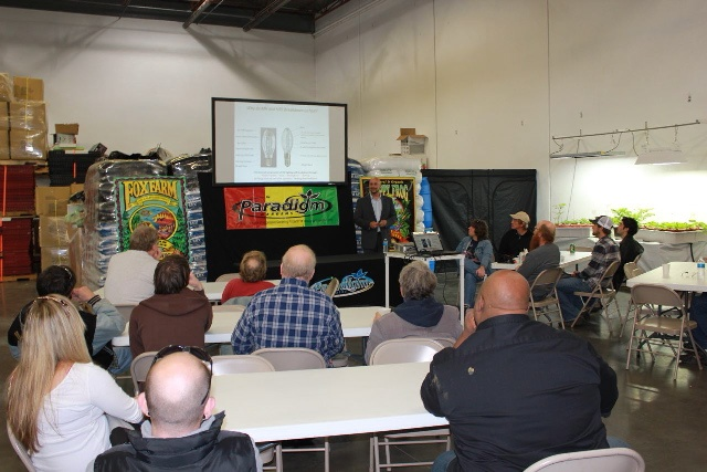Event at Paradigm Gardens in Madison Wi.  Teaching the world about iGROW induction lighting
