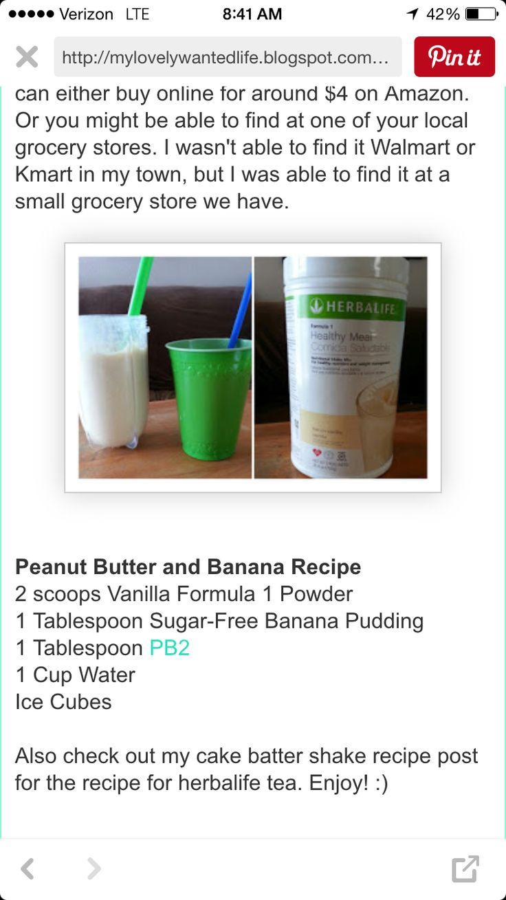 Pb banana (With images) Herbalife shake recipes