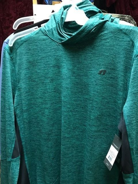 Russell Athletic  Green LW  Long Sleeve Rain Hoodie  mens XL 46-48    NEW #RussellAthletic #LONGSLEEVEZIPPERHOODIE