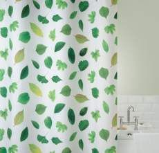 White Polyester Shower Curtain Spring Leaf - for more info on this product please click here – http://www.back2bath.co.uk/white-polyester-shower-curtain-spring-leaf