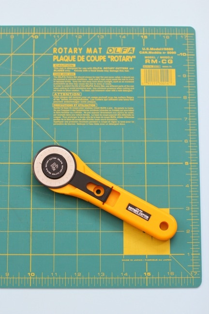 rotary cutter and mat - want!