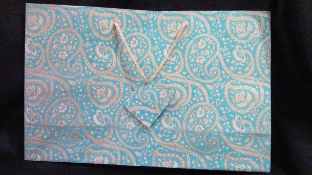Sea Green Large Printed Bag  (17)