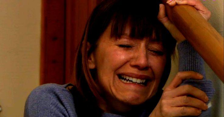 Emmerdale's Rhona Goskirk breaks down after returning home and facing rapist Pierce  - DigitalSpy.com