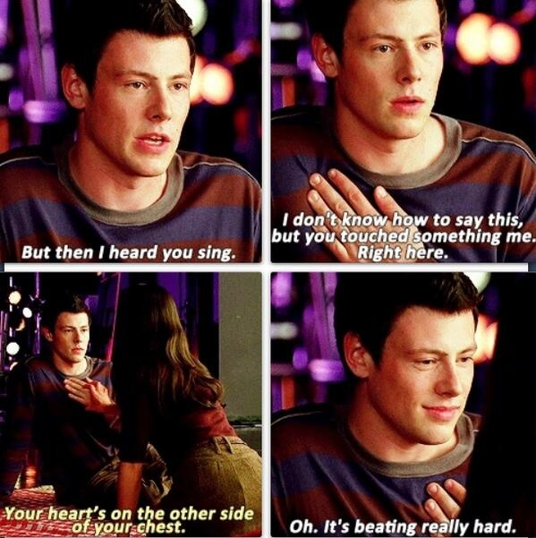 ♥.  Season 1, Episode 2 - Finchel's first kiss!!!!!
