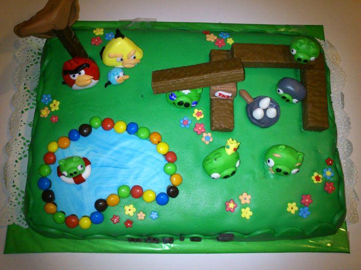 Tarta para Mario de los Angry Birds