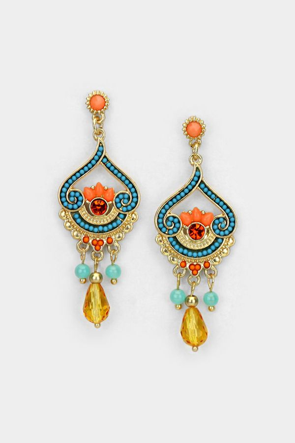 COLORWAY  Athena Chandelier Earrings | Women's Clothes, Casual Dresses, Fashion Earrings & Accessories | Emma Stine Limited
