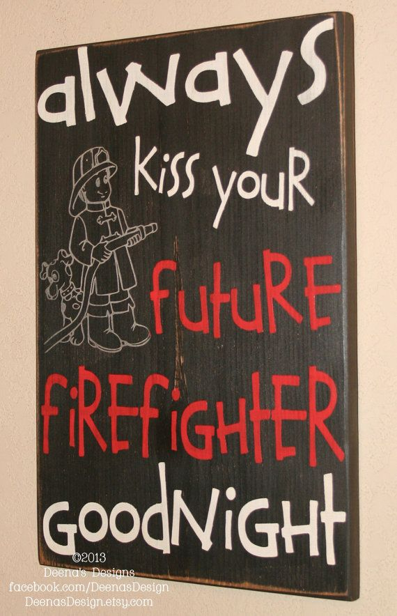 Firefighter Kids wall art by DeenasDesign - https://www.facebook.com/DeenasDesign - $44.00