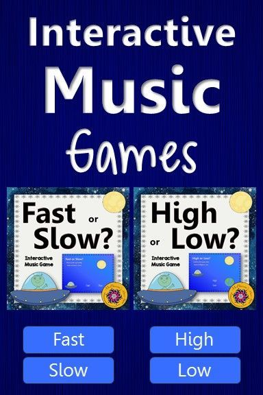 Elementary music - reinforcing the music opposites high/low and fast/slow is so easy with this interactive music game! Your students will beg to play it again and again!