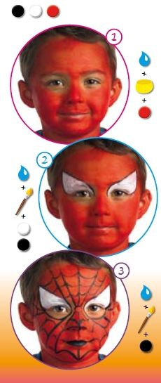 spiderman face painting for kids! Goin to try this w/ my son,Wyatt!