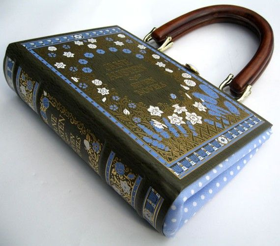 Purse created from a beautiful vintage book. This etsy store sells DIY tutorials. Definitely one to try and make!