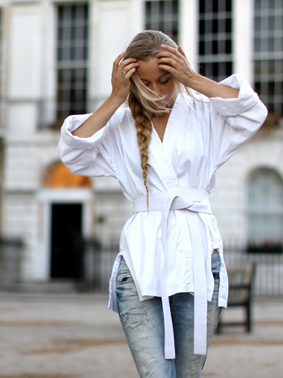 Fashion Click blogger Sandra Hagelstam of 5 Inch and Up with a side braid