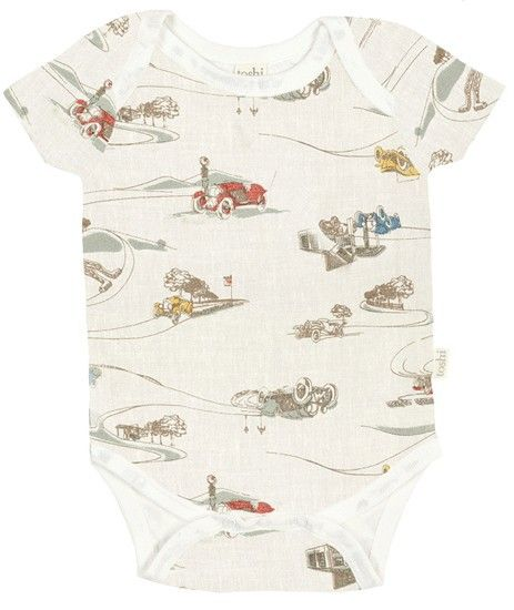Toshi Boy's Short Sleeve Onesie Vintage Cars