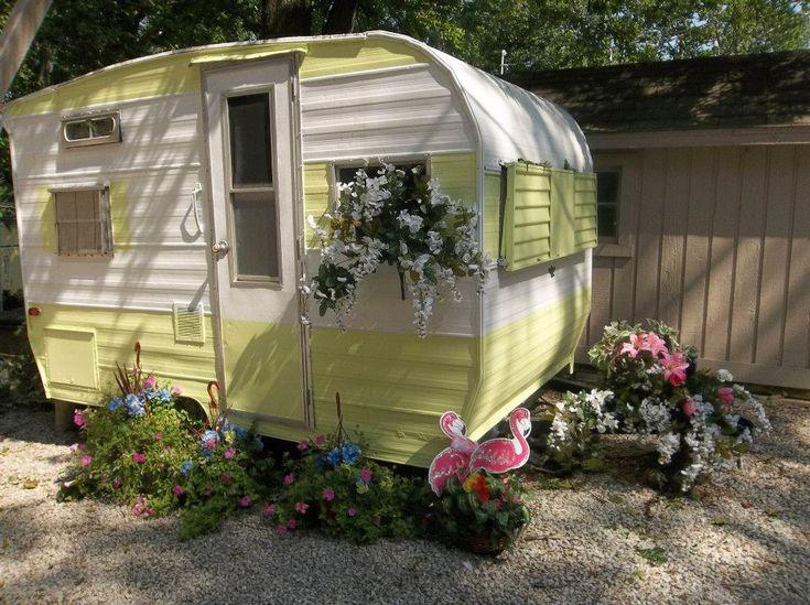 Too Cute! Vintage camper.