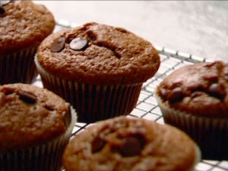 Chocolate Chocolate-Chip Muffins recipe from Nigella Lawson via Food Network