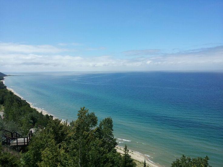 Overlook just North of Arcadia, Michigan (walked 124 steps) so beautiful!!