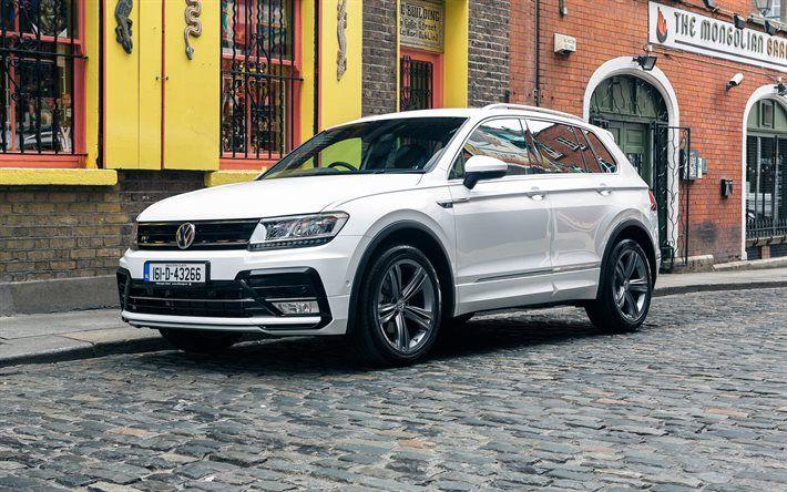 Volkswagen Tiguan, 2016, R-Line, White crossover, white Volkswagen, new Tiguan