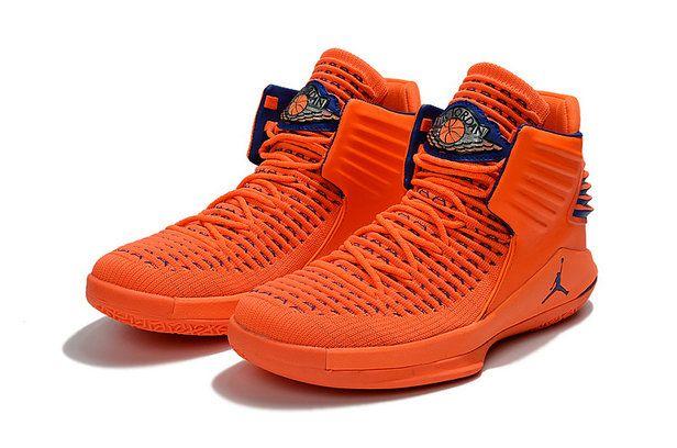 2018 Shop Air Jordan 32 XXXII Retro Mid Flyknit Orange Blue ... 34954d072