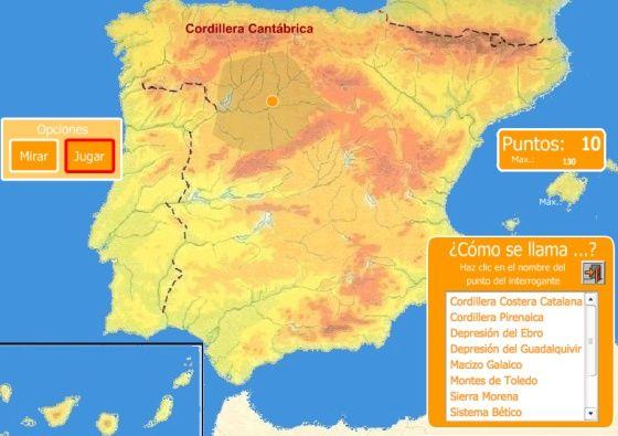 Juegos Mapa Politico De Espana.Repaso De Geografia Sabes Situar El Macizo Galaico En Un Mapa Mapa Fisico De Espana Relieve Espana Rios De Espana