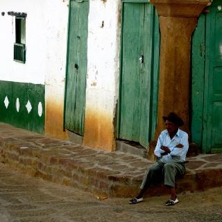 Hello old man. Barichara, Colombia