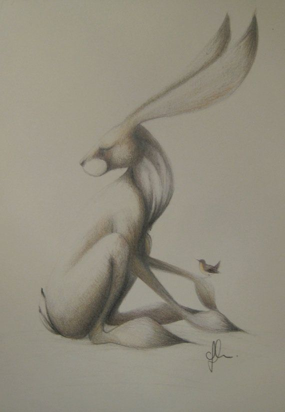 Image result for Sleeping hare made from vintage table cloth